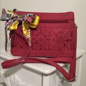 Crossbody Bag, with Aztec Shapes, by Chateau